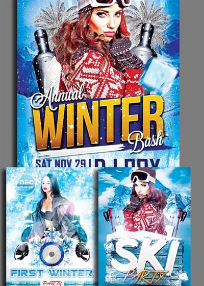 Winter Party Flyer 3in1 V1 Template