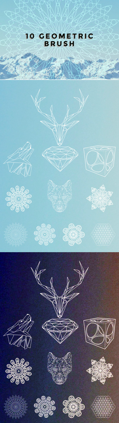 10 Geometric Brushes for Photoshop