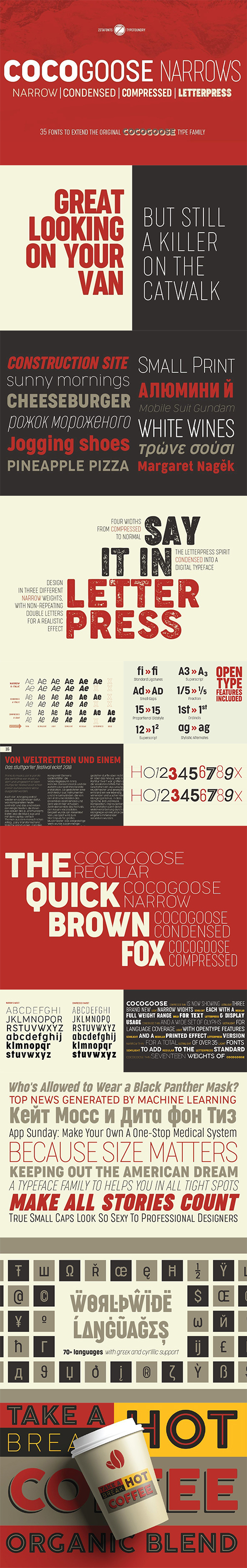 Cocogoose Narrows font family