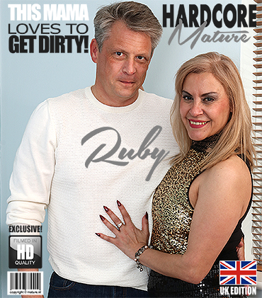 Ruby Stone (49) - British housewife Ruby loves fucking and sucking [Mature.nl, Mature.eu] 1080p - Blonde Porn
