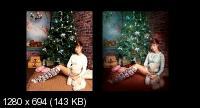 Подарок под ёлкой. Обработка в фотошоп (2017) HDRip