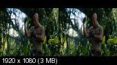 Джуманджи: Зов джунглей 3D / Jumanji: Welcome to the Jungle 3D (Лицензия)  Горизонтальная анаморфная стереопара