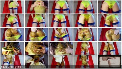 Anna Coprofield - Dirty Yellow Panties [Panty Scat / 1.57 GB] FullHD 1080p (Pantyhose, Solo)